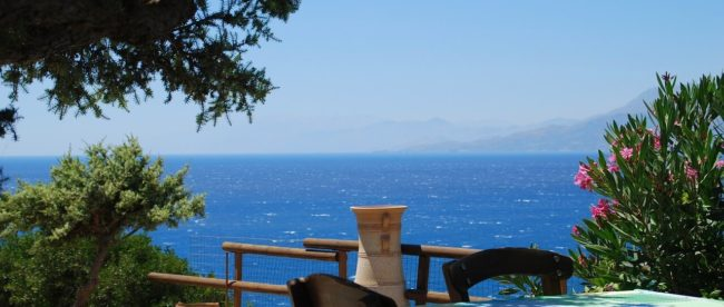 Taverne am Strand auf Kreta